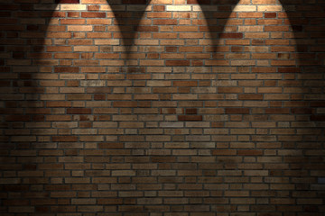 Scheinwerfer von oben auf die Mauer