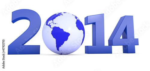 Jahr 2014 mit Welt als Null