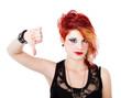 punk woman looser gesture