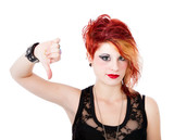 punk woman looser gesture