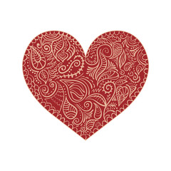 ornamental heart on white background