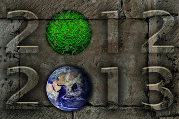 Mito del fin del mundo.Foto de la tierra cortesía de NASA.