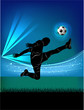 football player - jump kick