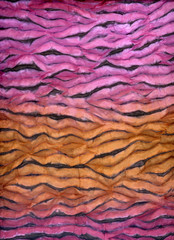 Batik over silk