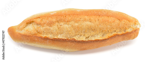 Fotobehang Brood Turkish bread from above isolated on white background