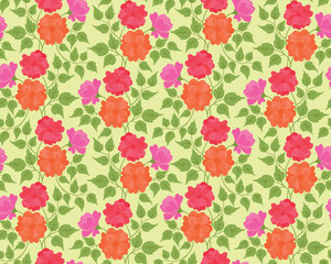 Colorful flower seamless background