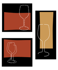 wine glass backgrounds