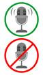 Audio and no audio
