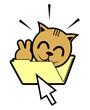 Surprise cat folder