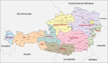Österreich, Bundesland, Bezirk