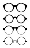 Set of round vector spectacle frames