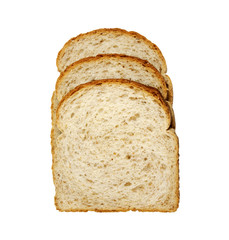 slices of cracked wheat bread, isolated