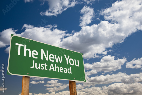 The New You Green Road Sign