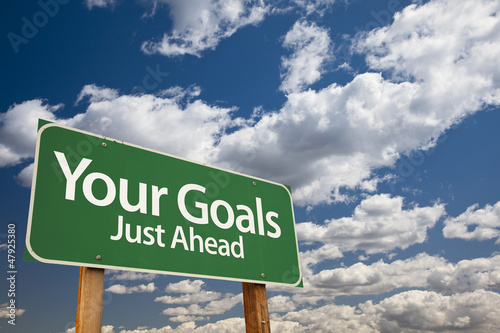 Your Goals Green Road Sign