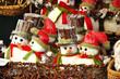 Leinwandbild Motiv Weihnachtsdekoration Schneemänner
