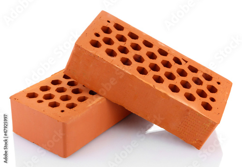 bricks, isolated on white