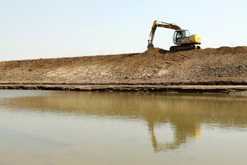 diversion channel construction site, north china