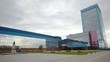 Office building of manufacturer plant AUTOVAZ stands against the