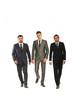 Walking three business men