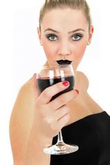 Rotwein trinken