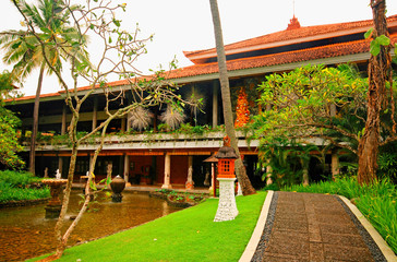 hotel resort in tropical garden (Bali, Indonesia)