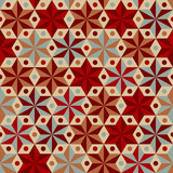Anise stars pattern in warm colors