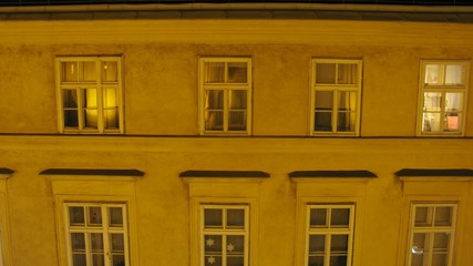 In house windows of house switch on and off light