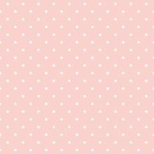 Polka Dots auf rosa Hintergrund nahtlose Vektor-Muster