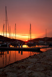 Yachts in a beautiful sunset