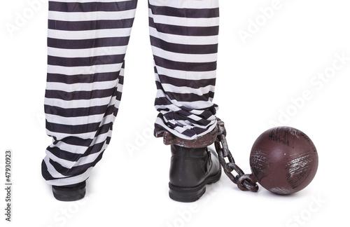 prisoner's legs