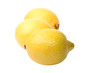 lemons on the white background