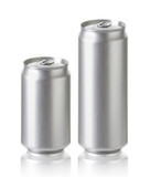 330, 500 ml. aluminum beer or soda cans, Realistic photo image