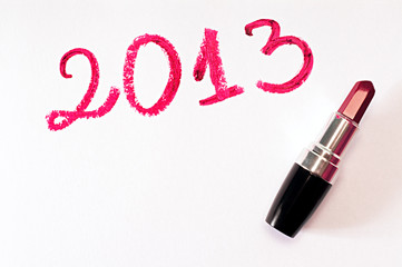 Year 2013 and lipstick
