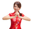 Chinese girl greeting