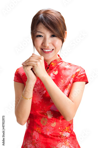 Chinese girl blessing