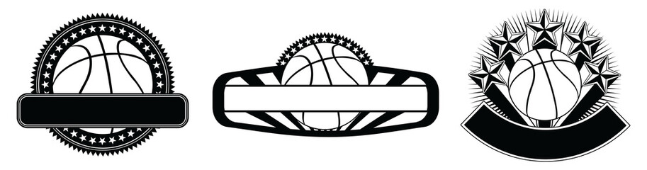 Basketball Design Emblem Templates