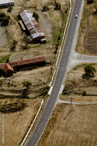 aerial view over