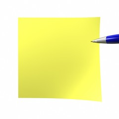 yelow Adhesive Note empty