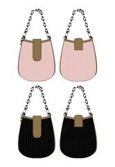 bag pink girl