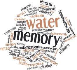 Word cloud for Water memory