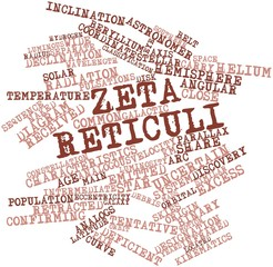 Word cloud for Zeta Reticuli