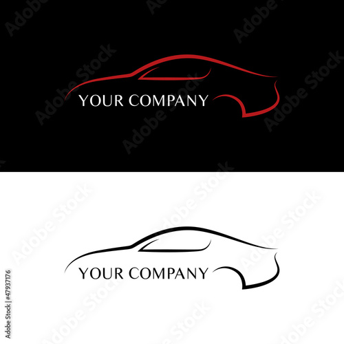 Red and black car logos