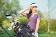 girl golf player
