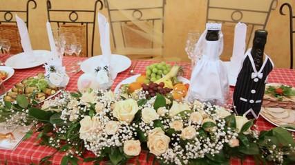 Festive table for wedding
