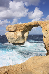 Azure Window, Natural arch on Gozo island ( Malta )