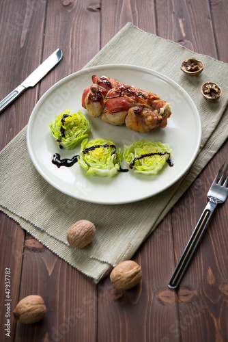 Poultry meat roulade