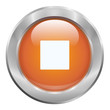 Bouton musique orange stop