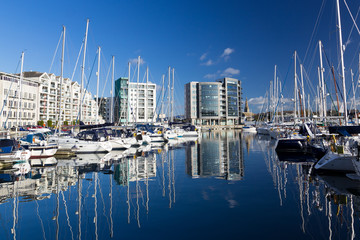 Marina Plymouth Devon England UK
