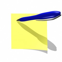 yellow empty Adhesive Note