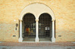 Italy, Ravenna, Loggetta Lombardesca back door